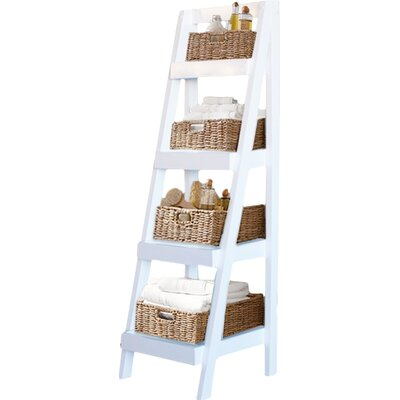 Anheuser 54 Leaning Bookcase Finish: White