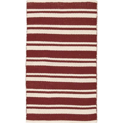 Stoughton Hand-Woven Red Area Rug Rug Size: Rectangle 23 x 39