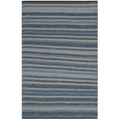 Voshell Hand-Woven Blue Area Rug Rug Size: Rectangle 8 x 10