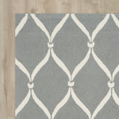 Coventry Gray/Ivory Indoor/Outdoor Area Rug Rug Size: 8 x 10