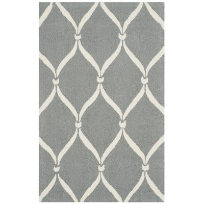 Coventry Gray/Ivory Indoor/Outdoor Area Rug Rug Size: Rectangle 36 x 56