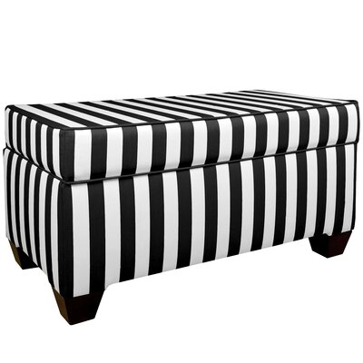 Adamsville Fabric Storage Bedroom Bench Color: Black / White