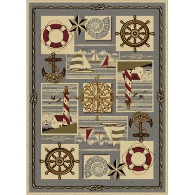 Averill Ivory Area Rug Rug Size: 5'3 x 7'3