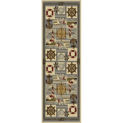 Averill Ivory Area Rug Rug Size: Runner 27 x 73