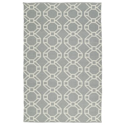 Fowler Gray/Cream Indoor/Outdoor Area Rug Rug Size: Rectangle 9 x 12