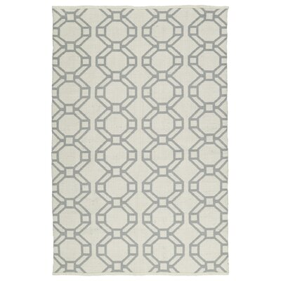 Fowler Cream/Gray Indoor/Outdoor Area Rug Rug Size: Rectangle 8 x 10