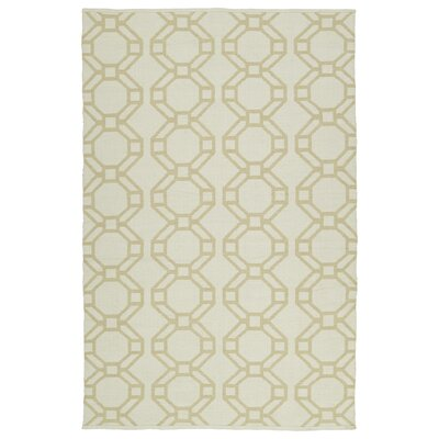 Fowler Cream/Khaki Indoor/Outdoor Area Rug Rug Size: Rectangle 5 x 76