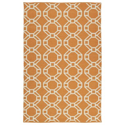 Fowler Orange/Cream Indoor/Outdoor Area Rug Rug Size: Rectangle 8 x 10
