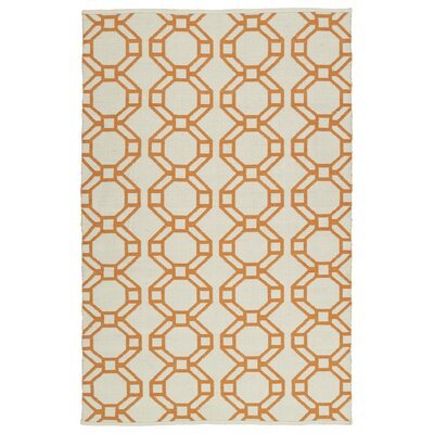 Fowler Cream/Orange Indoor/Outdoor Area Rug Rug Size: Rectangle 5 x 76