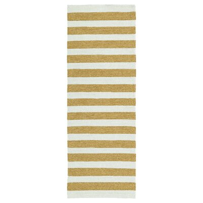 Suffield Gold/Cream Indoor/Outdoor Area Rug Rug Size: Runner 2 x 6