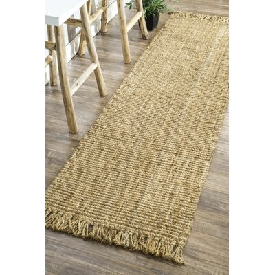 Elana Hand-Woven Brown Area Rug Rug Size: Runner 26 x 10