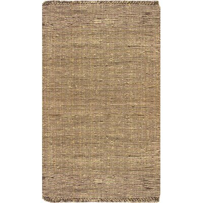 Elana Hand-Woven Brown Area Rug Rug Size: Rectangle 3 x 5