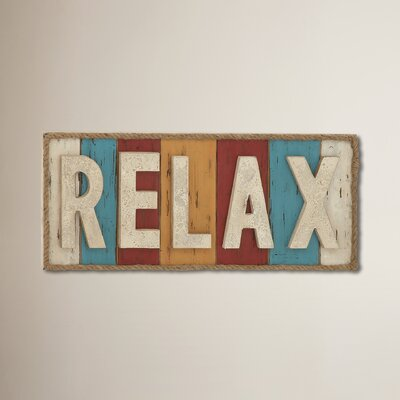 Gardner Colorful Relax Theme Sign Wall Décor