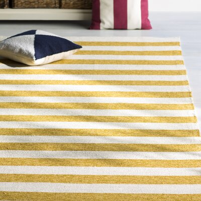 Suffield Gold/Cream Indoor/Outdoor Area Rug Rug Size: 8 x 10