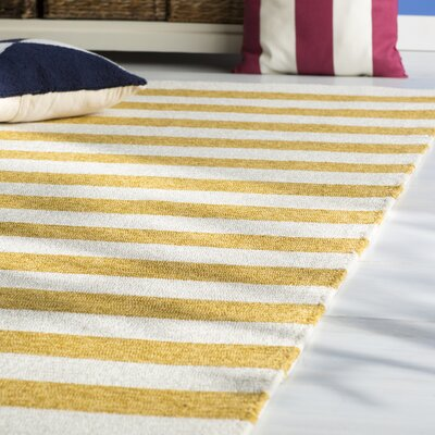 Suffield Gold/Cream Indoor/Outdoor Area Rug Rug Size: Rectangle 9 x 12