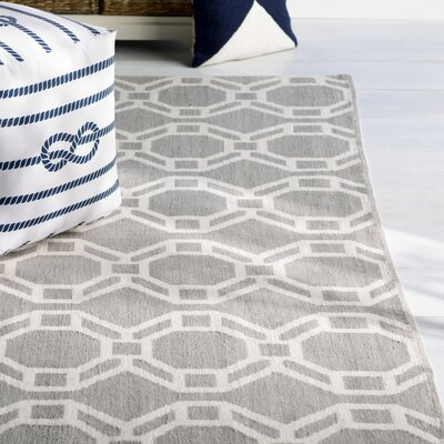 Fowler Gray/Cream Indoor/Outdoor Area Rug Rug Size: Rectangle 8 x 10