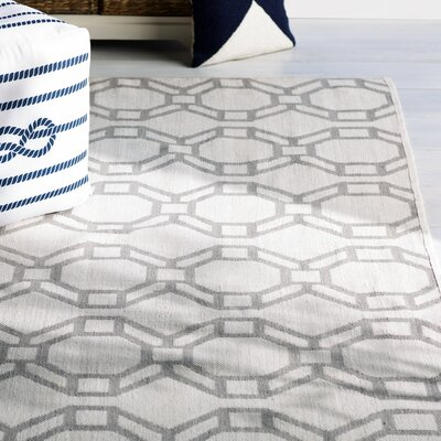 Fowler Cream/Gray Indoor/Outdoor Area Rug Rug Size: Rectangle 2 x 3