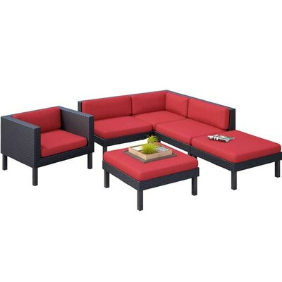 Zoar 6 Piece Deep Seating Group with Cushion