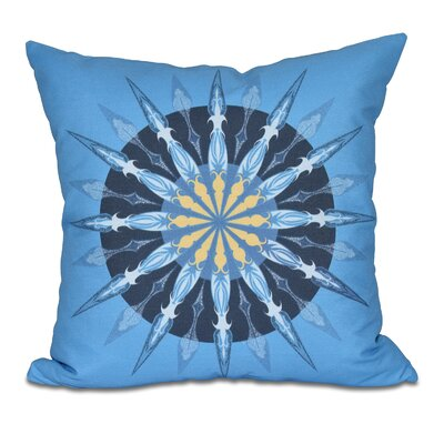 Hancock Sea Wheel Geometric Print Throw Pillow Size: 26 H x 26 W, Color: Blue