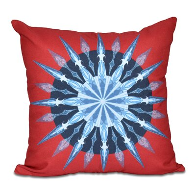 Hancock Sea Wheel Geometric Print Throw Pillow Size: 26 H x 26 W, Color: Red