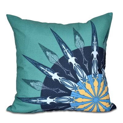 Hancock Sailors Delight Geometric Print Throw Pillow Size: 18 H x 18 W, Color: Green