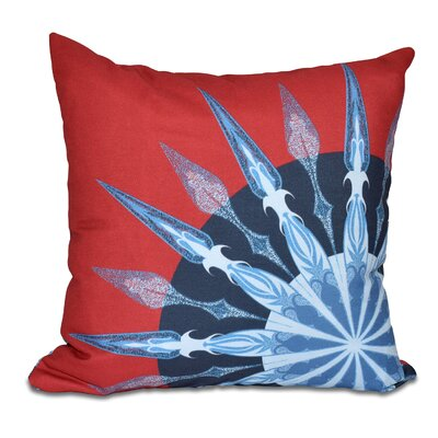 Hancock Sailors Delight Geometric Print Throw Pillow Size: 26 H x 26 W, Color: Red