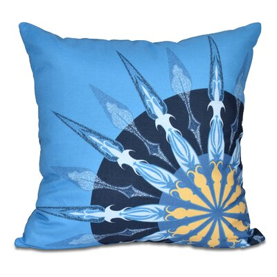Hancock Sailors Delight Geometric Print Throw Pillow Size: 26 H x 26 W, Color: Blue