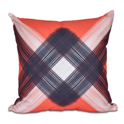Hancock String Art Geometric Print Throw Pillow Size: 18 H x 18 W, Color: Orange