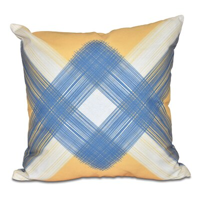 Hancock String Art Geometric Print Throw Pillow Size: 18 H x 18 W, Color: Yellow