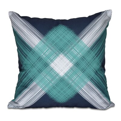 Hancock String Art Geometric Print Throw Pillow Size: 18 H x 18 W, Color: Navy Blue