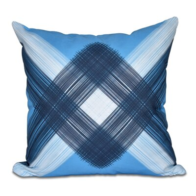 Hancock String Art Geometric Print Throw Pillow Size: 26 H x 26 W, Color: Blue