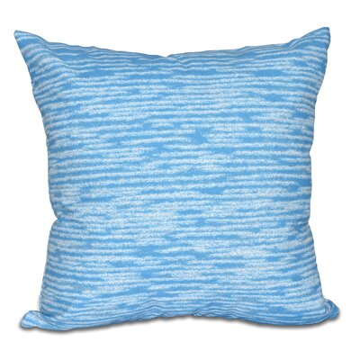 Hancock Marled Knit Geometric Print Throw Pillow Color: Blue, Size: 18 H x 18 W