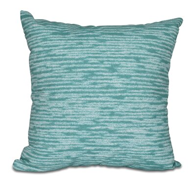 Hancock Marled Knit Geometric Print Throw Pillow Size: 26 H x 26 W, Color: Green