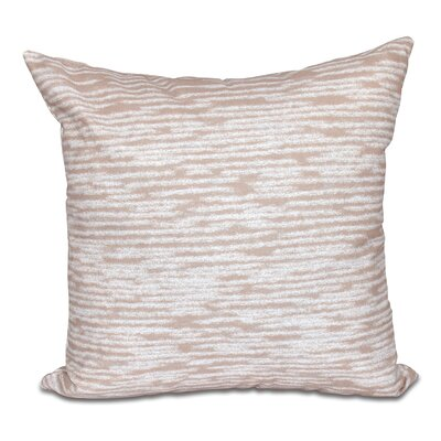 Hancock Marled Knit Geometric Print Throw Pillow Size: 18 H x 18 W, Color: Taupe/Beige