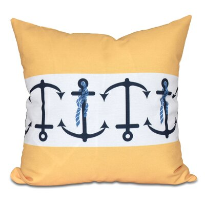 Hancock Anchor Stripe Print Throw Pillow Size: 16