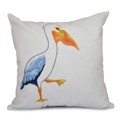 Cavendish Pelican March Animal Print Throw Pillow Size: 20 H x 20 W, Color: White