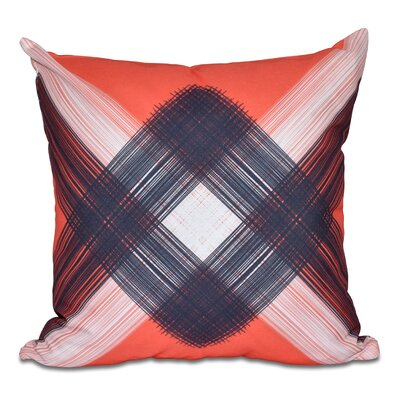 Hancock String Art Geometric Print Outdoor Throw Pillow Size: 20 H x 20 W, Color: Orange