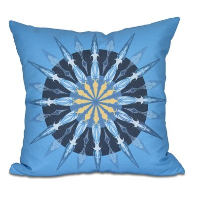 Hancock Sea Wheel Geometric Print Outdoor Throw Pillow Size: 18 H x 18 W, Color: Blue
