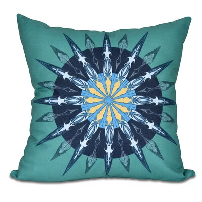 Hancock Sea Wheel Geometric Print Outdoor Throw Pillow Size: 18