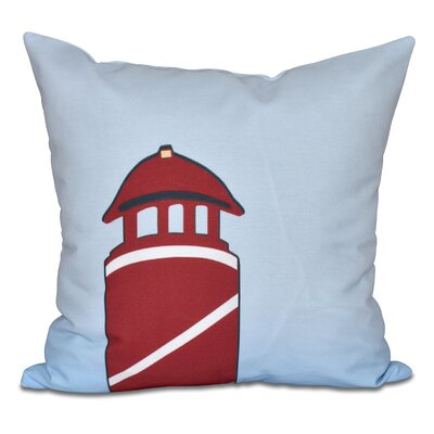 Hancock Safe Harbor Geometric Print Throw Pillow Size: 16 H x 16 W, Color: Red