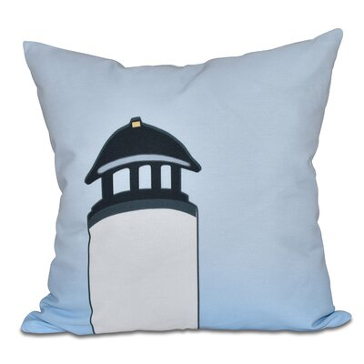 Hancock Safe Harbor Geometric Print Throw Pillow Size: 20 H x 20 W, Color: White