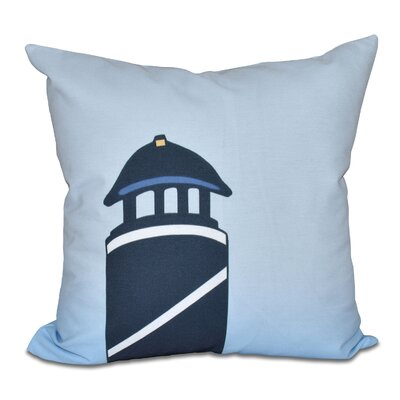 Hancock Safe Harbor Geometric Print Throw Pillow Color: Navy Blue, Size: 18 H x 18 W