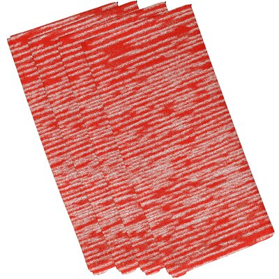 Hancock Marled Knit Geometric Print Napkin Color: Orange