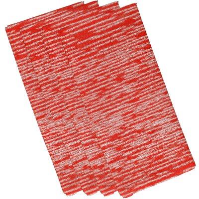 Hancock Marled Knit Geometric Print Napkin