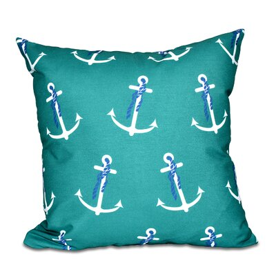 Hancock Anchor Whimsy Geometric Print Throw Pillow Size: 18 H x 18 W, Color: Green