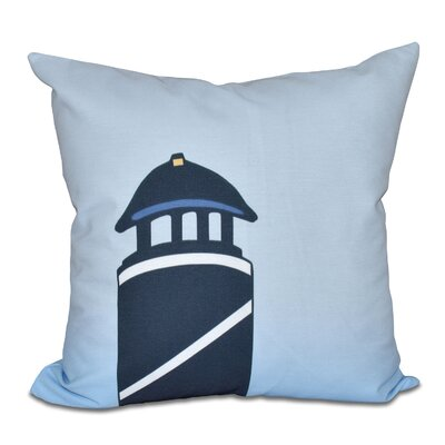 Hancock Safe Harbor Geometric Print Outdoor Throw Pillow Color: Navy Blue, Size: 20 H x 20 W