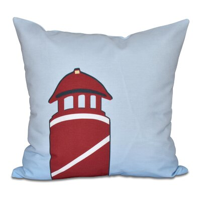 Hancock Safe Harbor Geometric Print Outdoor Throw Pillow Size: 18 H x 18 W, Color: Red