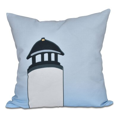 Hancock Safe Harbor Geometric Print Outdoor Throw Pillow Size: 18 H x 18 W, Color: White