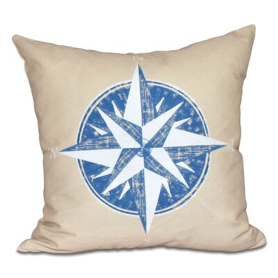 Hancock Compass Geometric Print Outdoor Throw Pillow Size: 20 H x 20 W, Color: Taupe