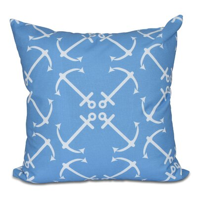 Hancock Anchor's Up Geometric Print Outdoor Throw Pillow